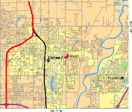 Carmel, IN (46033) map