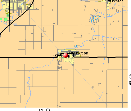 Frankton, IN (46044) map