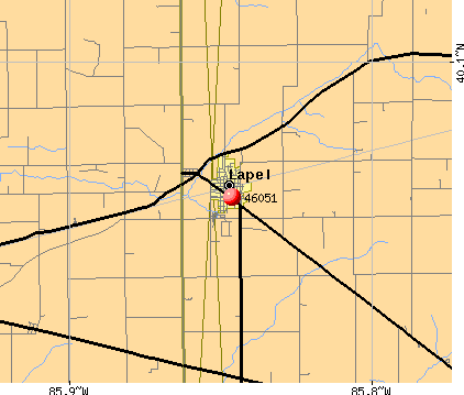 Lapel, IN (46051) map