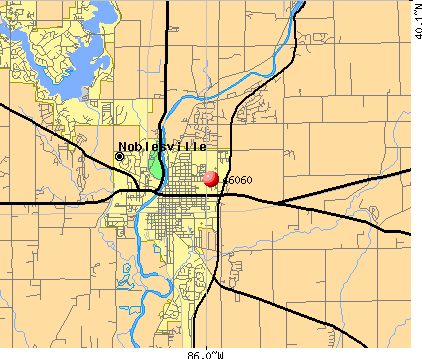 Noblesville, IN (46060) map