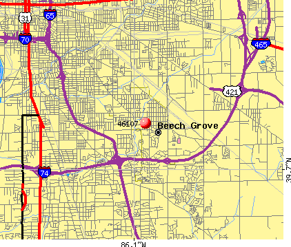 Beech Grove, IN (46107) map