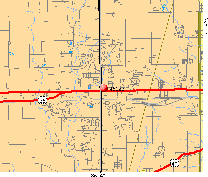 Avon, IN (46123) map