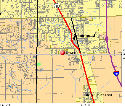 Greenwood, IN (46143) map