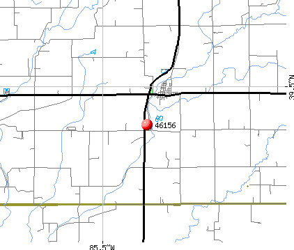Milroy, IN (46156) map