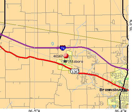 Pittsboro, IN (46167) map