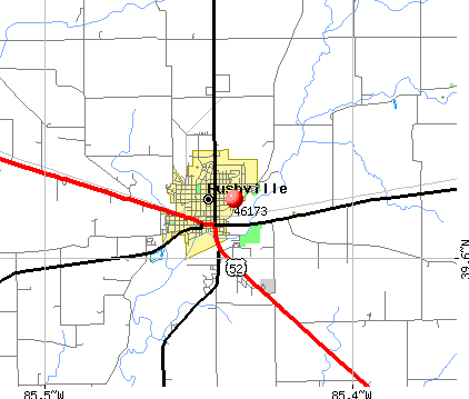 Rushville, IN (46173) map