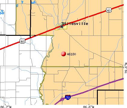 Stilesville, IN (46180) map