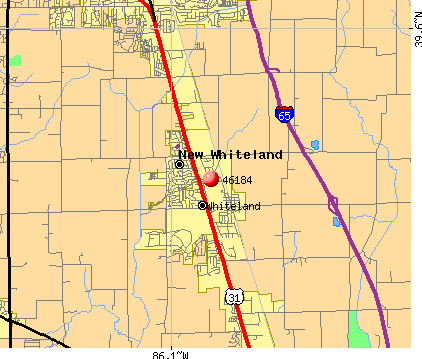 Whiteland, IN (46184) map