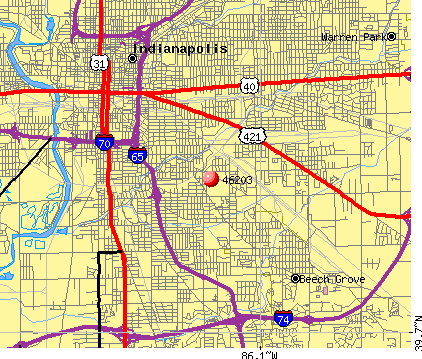 Indianapolis, IN (46203) map