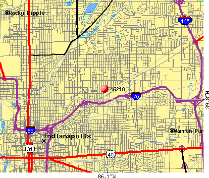 Indianapolis, IN (46218) map