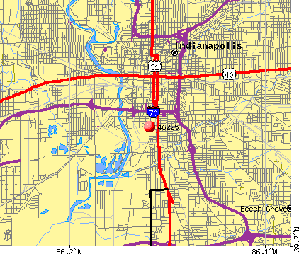 Indianapolis, IN (46225) map