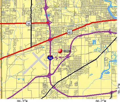 Indianapolis, IN (46241) map