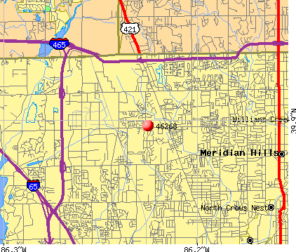 Indianapolis, IN (46268) map