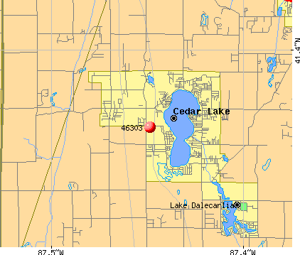Cedar Lake, IN (46303) map