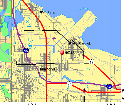East Chicago, IN (46312) map