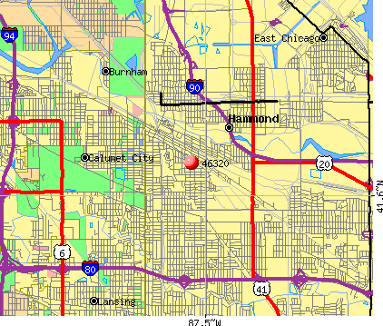 Hammond, IN (46320) map