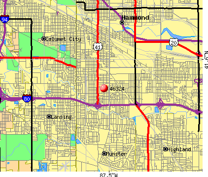 Hammond, IN (46324) map