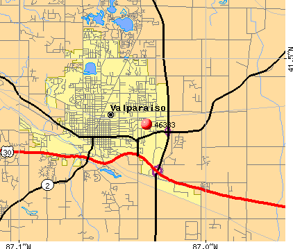Valparaiso, IN (46383) map