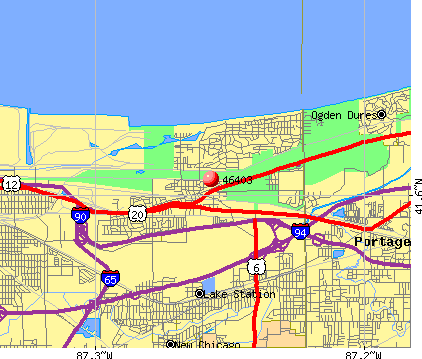 Gary, IN (46403) map
