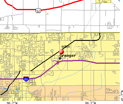 Granger, IN (46530) map