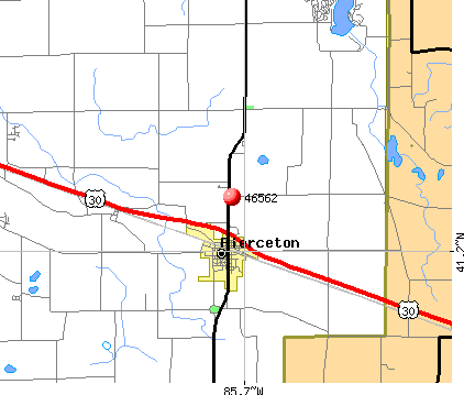 Pierceton, IN (46562) map
