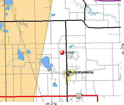 Shipshewana, IN (46565) map