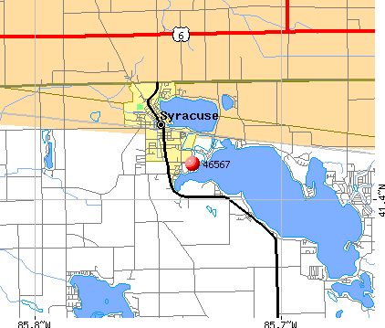 Syracuse, IN (46567) map