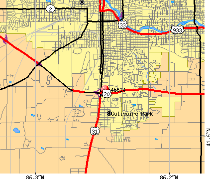 South Bend, IN (46614) map