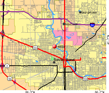 South Bend, IN (46616) map