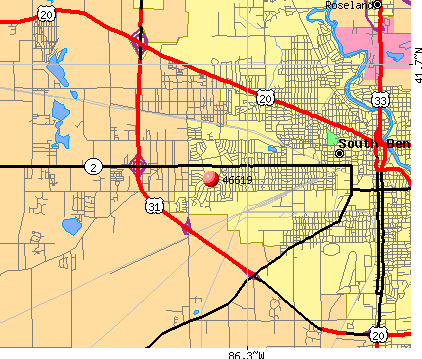 South Bend, IN (46619) map
