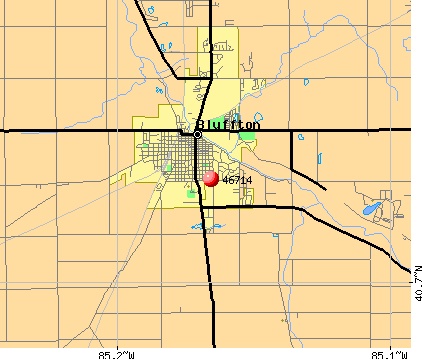 Bluffton, IN (46714) map