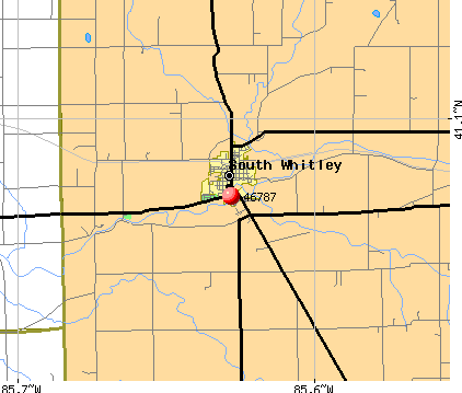 South Whitley, IN (46787) map