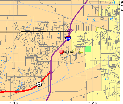 Fort Wayne, IN (46804) map