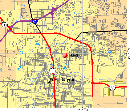 Fort Wayne, IN (46805) map
