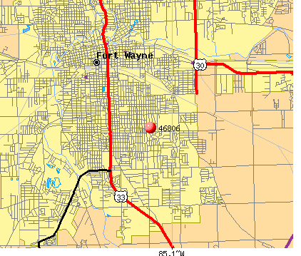 Fort Wayne, IN (46806) map