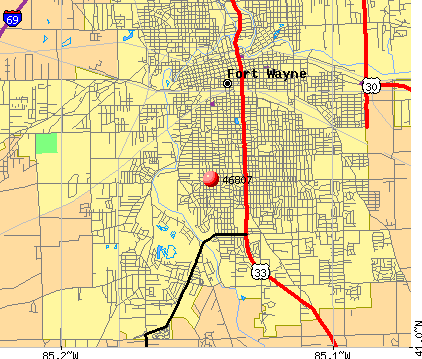 Fort Wayne, IN (46807) map