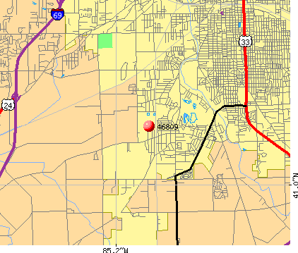 Fort Wayne, IN (46809) map