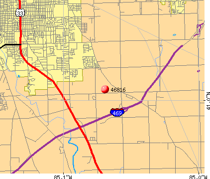 Fort Wayne, IN (46816) map