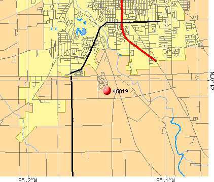 Fort Wayne, IN (46819) map