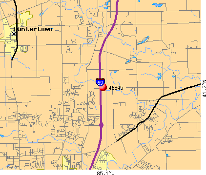 Fort Wayne, IN (46845) map