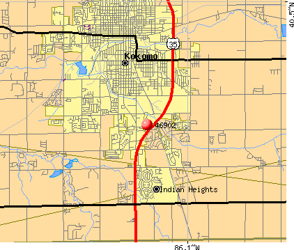 Kokomo, IN (46902) map