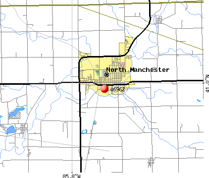 North Manchester, IN (46962) map