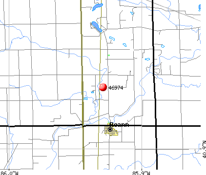 Roann, IN (46974) map
