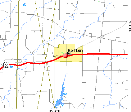 Holton, IN (47023) map
