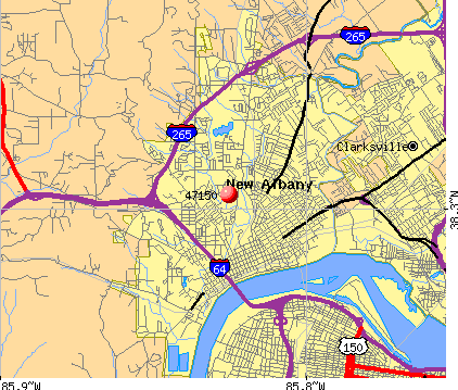 New Albany, IN (47150) map