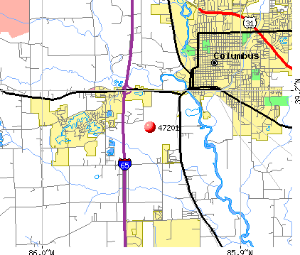 Columbus, IN (47201) map