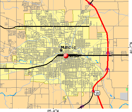 Muncie, IN (47305) map