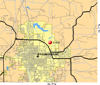 Bloomington, IN (47408) map