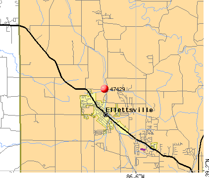 Ellettsville, IN (47429) map
