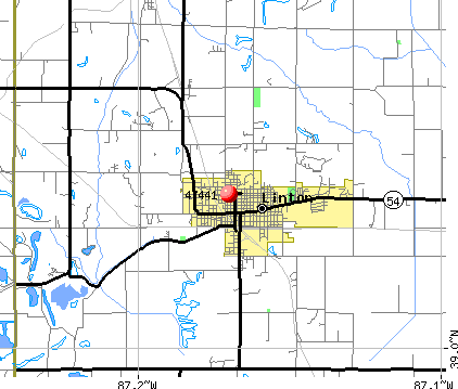 Linton, IN (47441) map